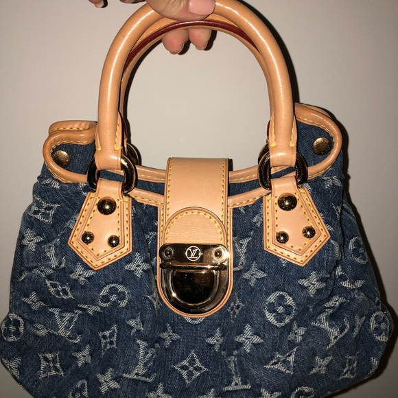Louis Vuitton Handbags - LOUIS VUITTON BLUE MONOGRAM DENIM PLEATY MINI